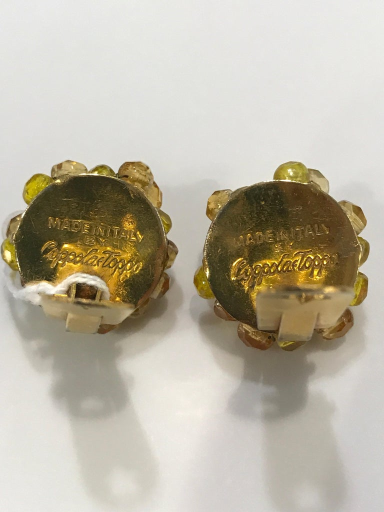 Coppola e Toppo Crystal  Earrings In Good Condition For Sale In New York, NY