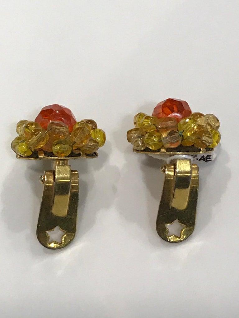 Coppola e Toppo Crystal  Earrings For Sale 1
