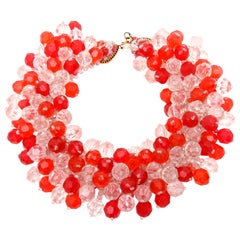 Coppola e Toppo for Pucci Cluster Beaded Collar Necklace Vintage Italian