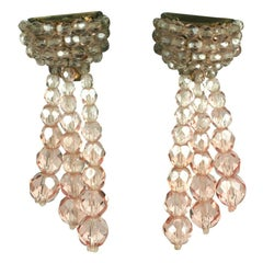 Coppola Toppo Ombre Pink Crystal Earrings