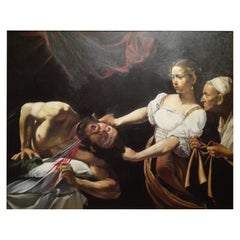 "Copy of Caravaggio "" Judith and Holofernes "" 20th Century"