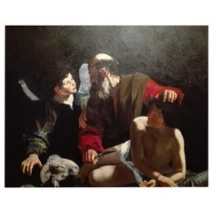 "Copy of Caravaggio ""Sacrifice of Isaac"" 20th Century"