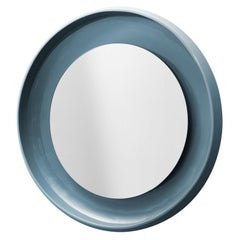 Coque Small Mirror with Ceramic Frame in Peltro Glazed Ceramic by Alain Gilles