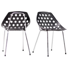 Coquillage Chairs in Black by Pierre Guariche