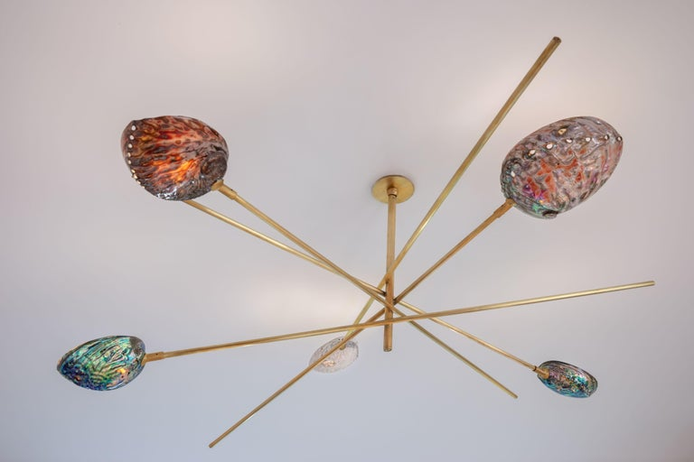 French Coquillage Chandelier by Ludovic Clément d'Armont For Sale