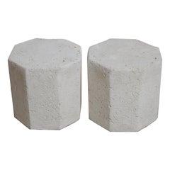 Coquina Cast Stone Octagonal Tables/Stools