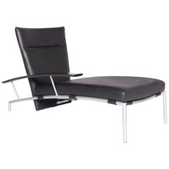 COR Accuba Designer Leather Lounger Black Genuine Leather Couch by Peter Maly