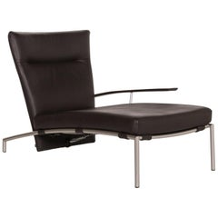 COR Accuba Leather Lounger Brown Function Relax Function