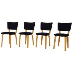 Cor Alons for Gouda Den Boer Plywood Dining Chairs, the Netherlands 1950s