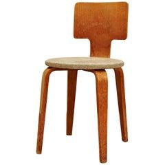 Cor Alons Plywood and Upholstery Chair, circa 1950