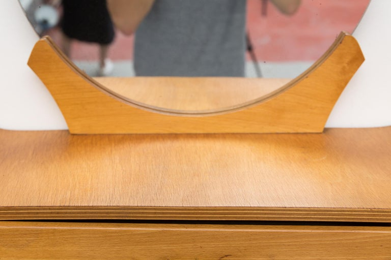 Cor Alons Vanity Mirror for Den Boer In Good Condition For Sale In Los Angeles, CA