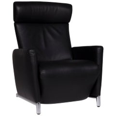 COR Bico Leather Armchair Black Incl. Relax Function
