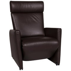 COR Bico Leather Armchair Brown Relax Function