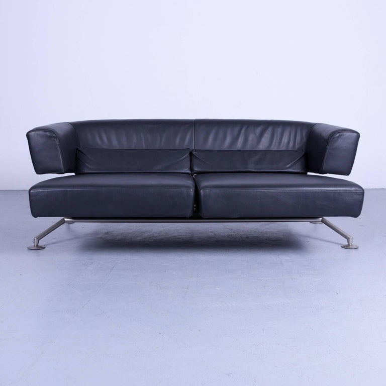 cor circum designer sofa black leather three seat couch function modern for sale at 1stdibs. Black Bedroom Furniture Sets. Home Design Ideas