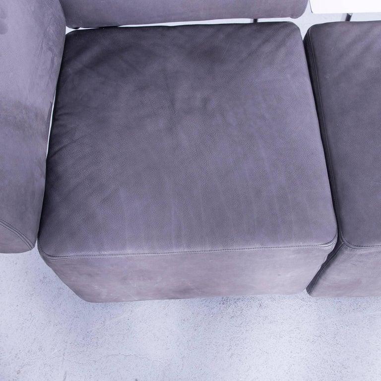 COR Clou Leather Sofa Grey Three-Seat 5