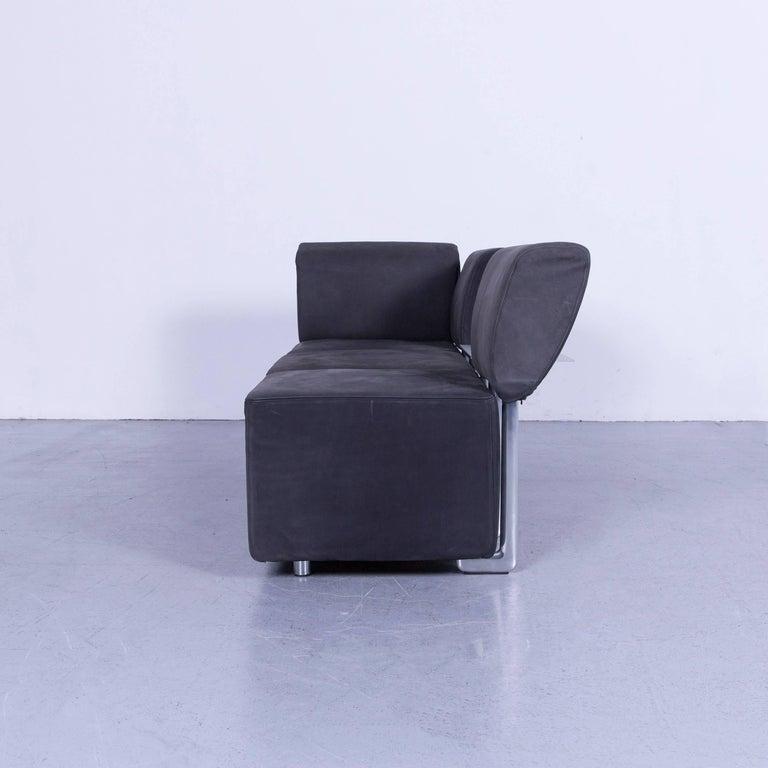 COR Clou Leather Sofa Grey Three-Seat 6