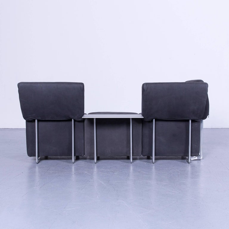 COR Clou Leather Sofa Grey Three-Seat 7