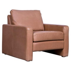 COR Conseta Anilin Leather Armchair Brown One-Seat