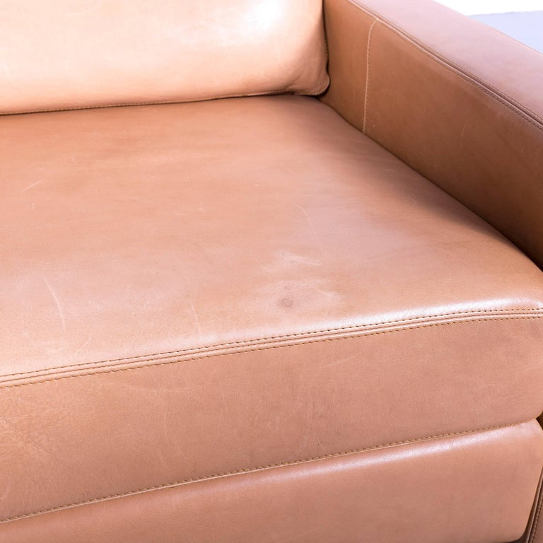 COR Conseta Anilin Leather Armchair Brown One-Seat In Good Condition In Cologne, DE