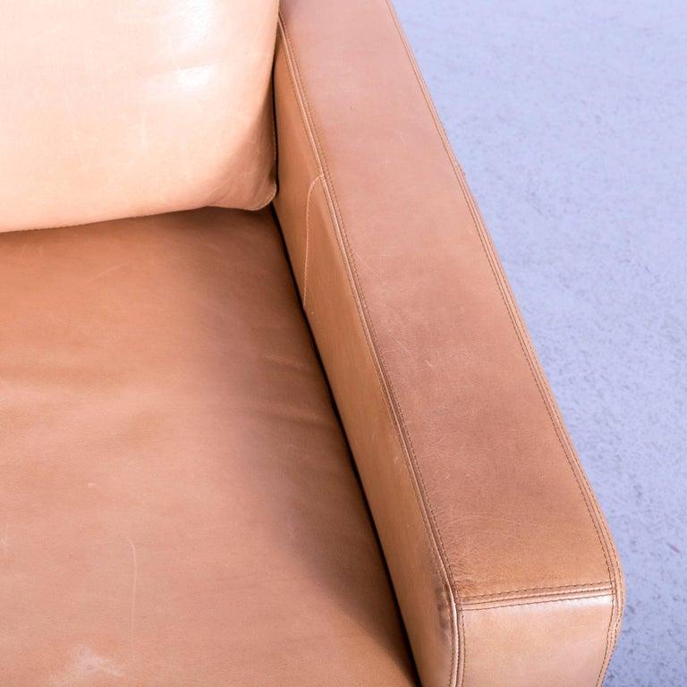 Contemporary COR Conseta Anilin Leather Armchair Brown One-Seat