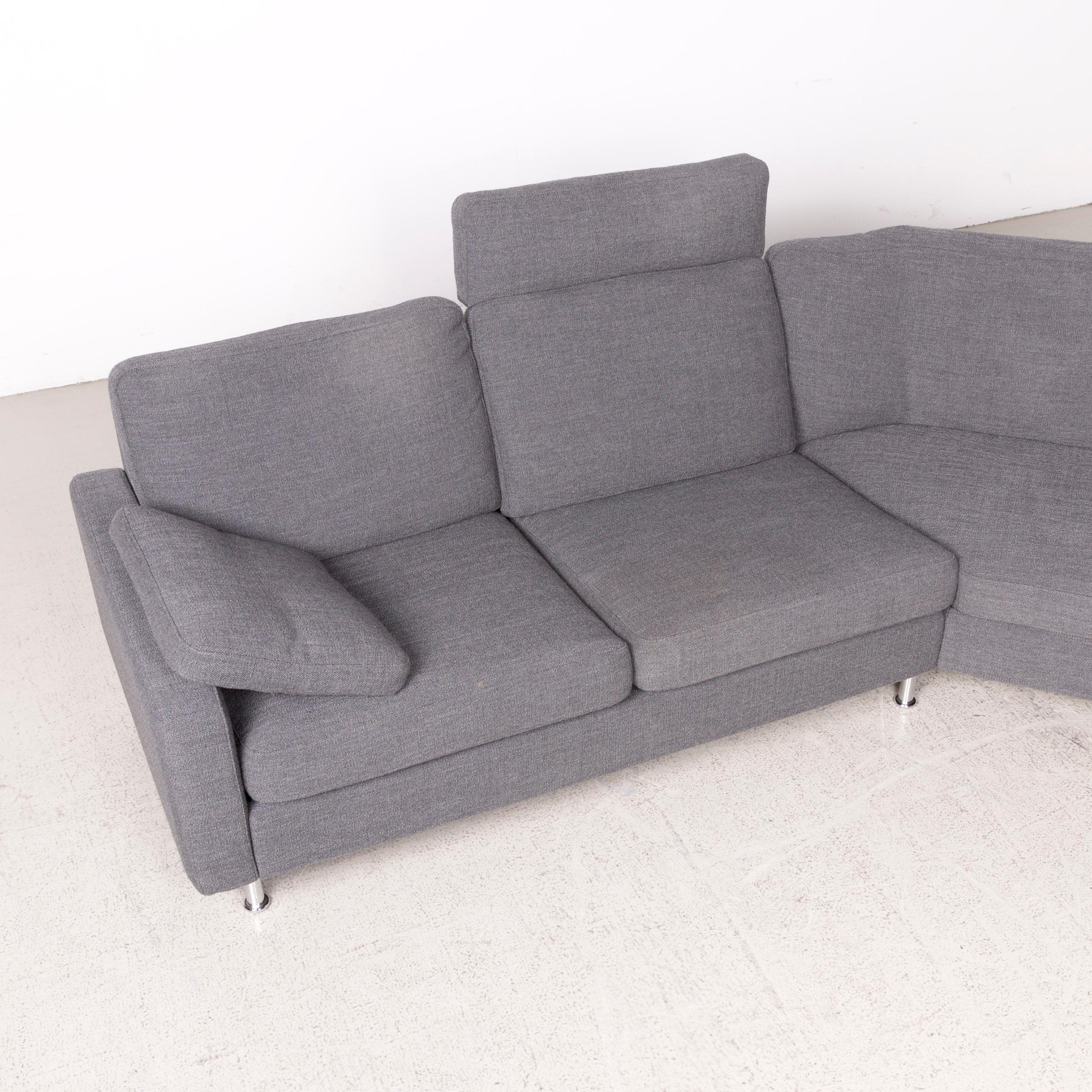 COR Conseta Designer Fabric Sofa Gray Corner Sofa Fabric Couch