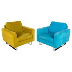 COR Conseta Fabric Armchair Set Yellow Turquoise 2x