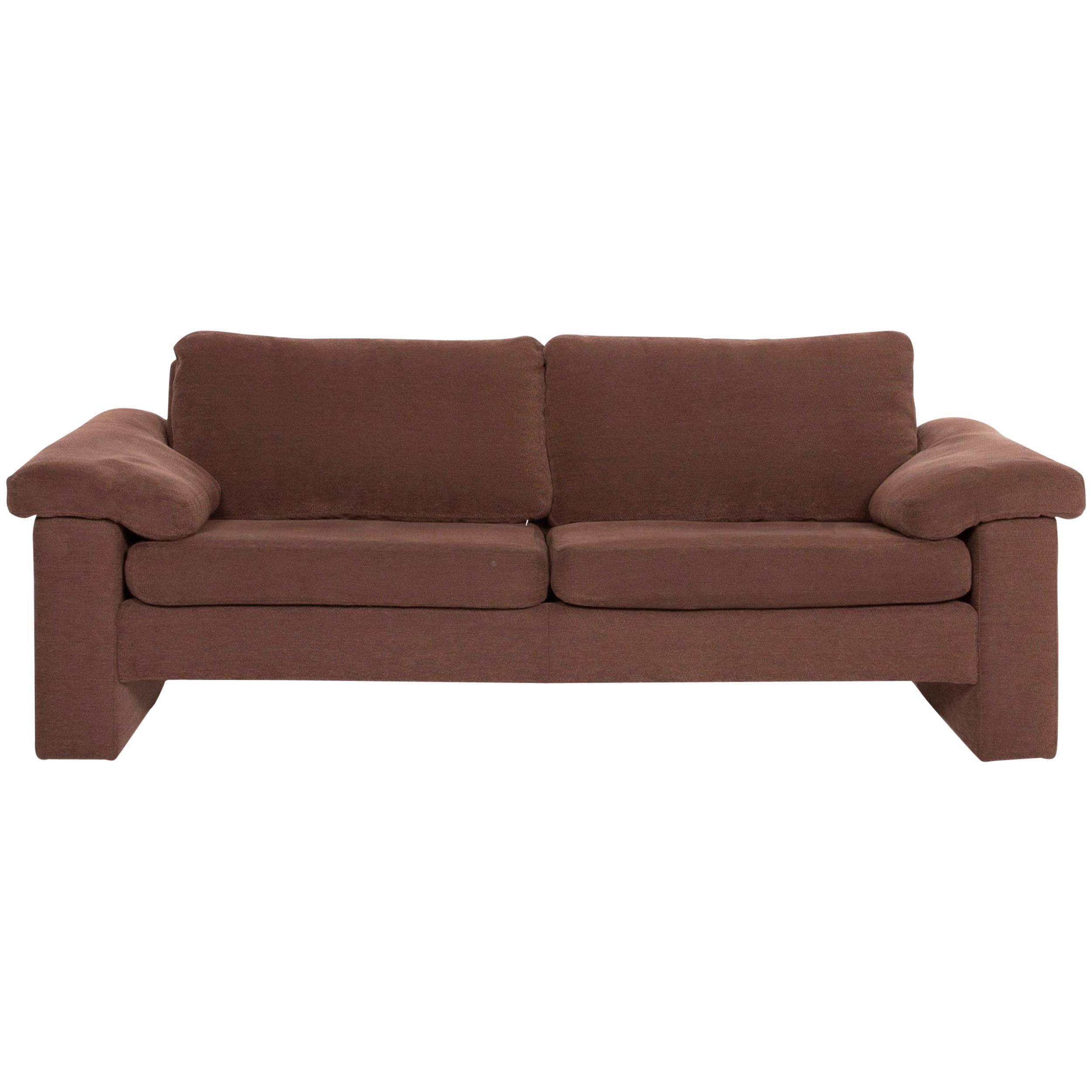 COR Conseta Fabric Sofa Brown Three-Seat