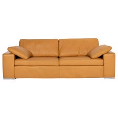 COR Conseta Leather Sofa Camel Brown Three-Seat Couch