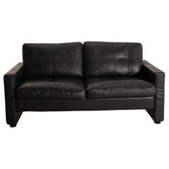 COR Conseta Leather Sofa Dark Blue Two-Seater Couch