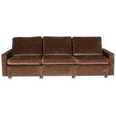 COR Cord Fabric Sofa Three-Seat Couch