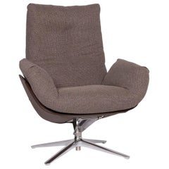 COR Cordia Fabric Lounge Chair Brown Mud Tilt Function Relax Function