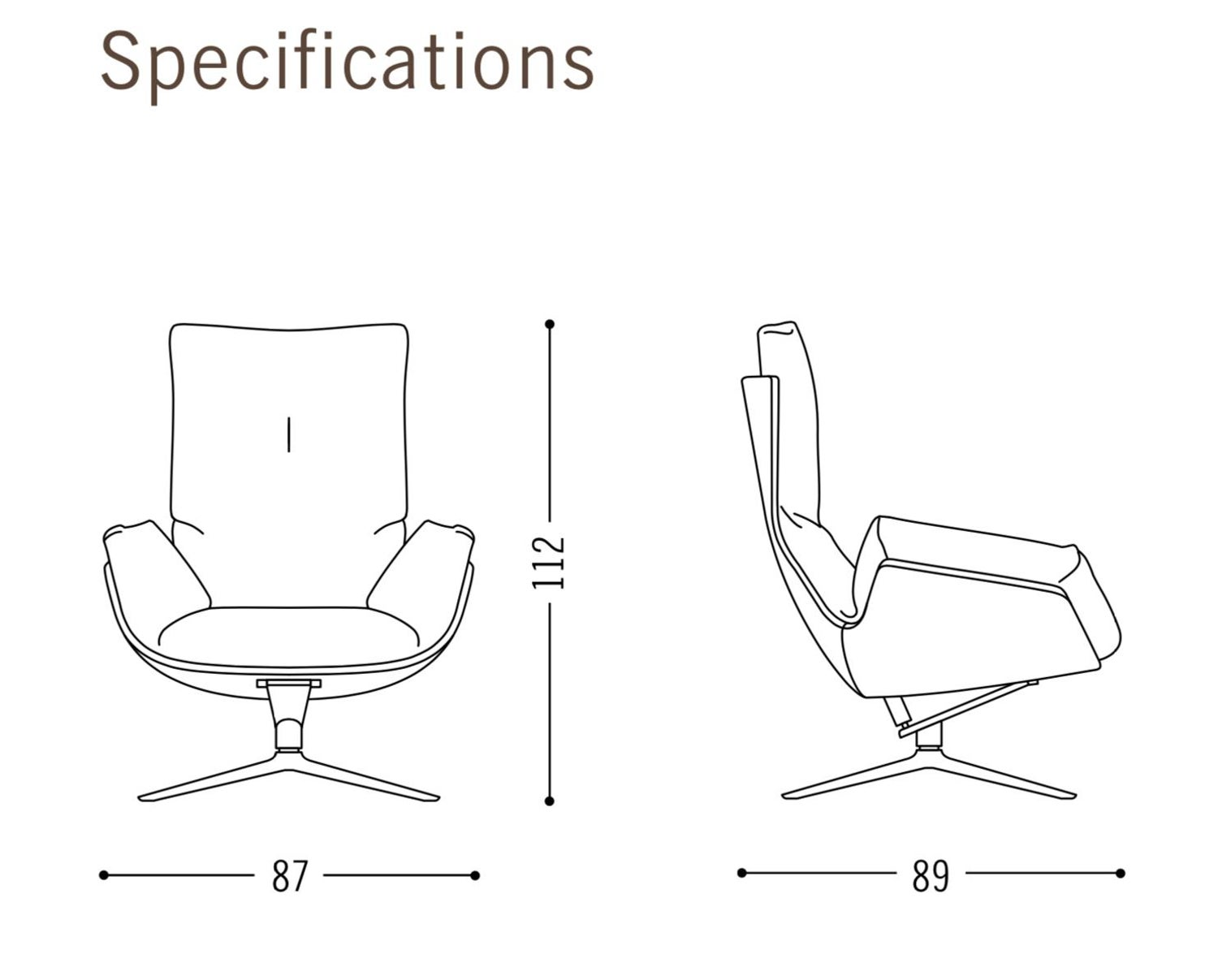 Cor Cordia Swivel Lounge Chair In Fabric Leather Or A Combination