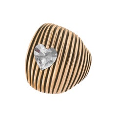 Cor Crystal gold heart ring NWOT