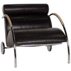 COR Cycle Leather Armchair Black