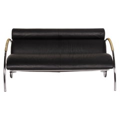 COR Cycle Leather Sofa Black Two-Seat