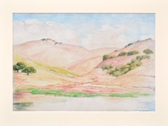 California Pink and Gold Hills Landscape