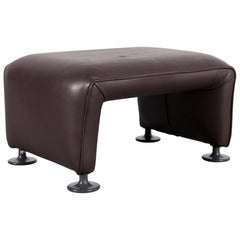 COR Designer Leather Foot-Stool Brown Bench
