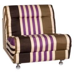COR Fabric Armchair Multi-Color Beige Striped