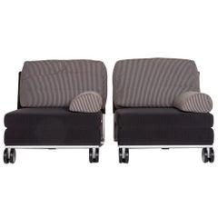 COR Fabric Armchair Set Blue Dark Blue Sleep Function Function 2 Armchair