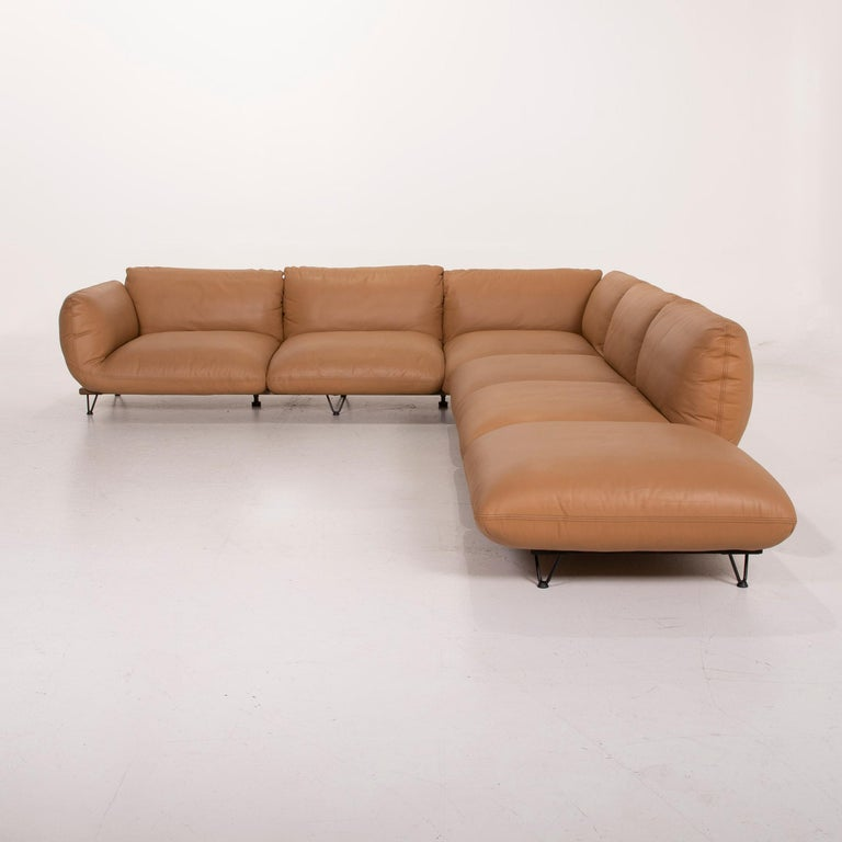 Cor Jalis Leather Sofa Cognac Corner Sofa Substructure And Feet By Revive At 1stdibs