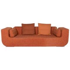 COR Nuba Fabric Sofa Orange Three-Seat Couch