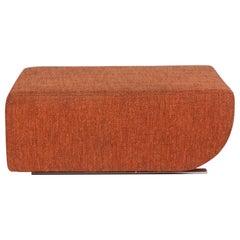 COR Nuba Fabric Stool Orange Ottoman