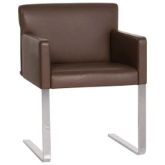 COR Quant Leather Armchair Brown