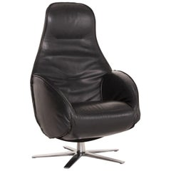 COR ROB Leather Relaxation Armchair Black Armchair Electrical Function