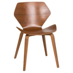 Cor Shrimp Wood Chair Brown