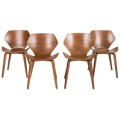 COR Shrimp Wood Chair Set Brown Set
