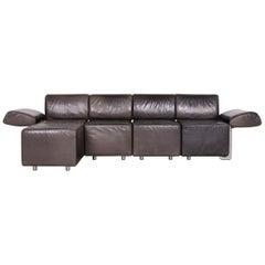 COR Trio Designer Leather Sofa Black Genuine Leather Three-Seat Couch