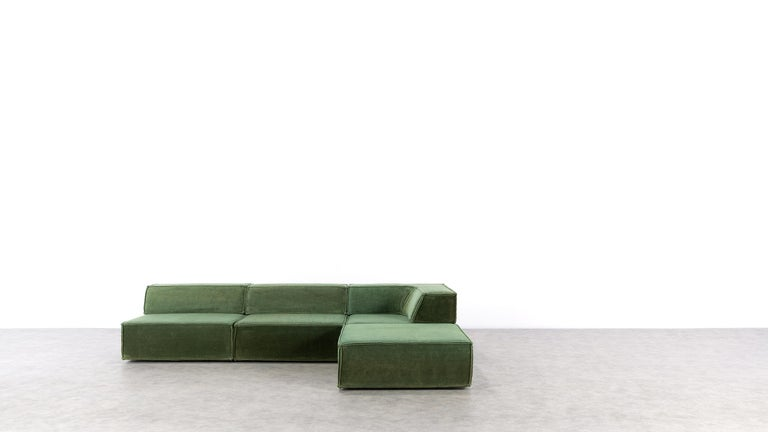 COR Trio Modular Sofa, Giant Landscape in Green, 1972 by Team Form AG, Swiss 3