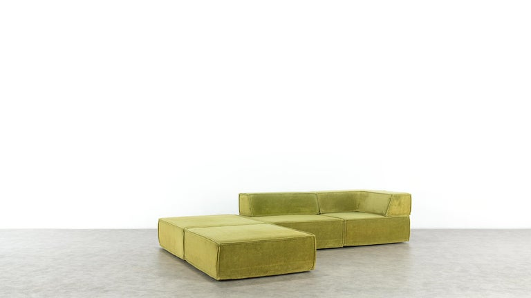 COR Trio Modular Sofa, Giant Landscape in Green, 1972 by Team Form Ag, Swiss For Sale 3