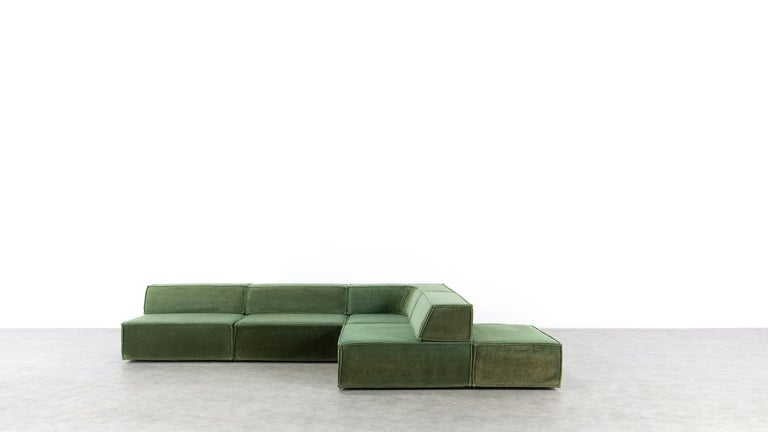 COR Trio Modular Sofa, Giant Landscape in Green, 1972 by Team Form AG, Swiss 4